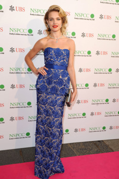 LONDON, ENGLAND - MAY 24:  Natalia Vodianova attends the NSPCC Pop Art Ball at Banqueting House on May 24, 2012 in London, England.  (Photo by Ferdaus Shamim/WireImage)