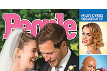 Drew Barrymore's wedding photo covers People.