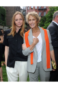 Stella McCartney and Lauren Hutton attend the Stella McCartney Spring 2012 Presentation at Stella McCartney Store on June 11, 2012 in New York City.
