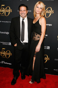 Desginer Narciso Rodriguez (L) and actress Claire Danes (R) attends the Vanidades 50th Anniversary celebration at Trump SoHo on September 23, 2010 in New York City.