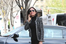 Bethenny Frankel sighting on the streets of Manhattan on April 11, 2012 in New York City.