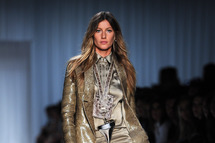 Gisele Bundchen walks the runway during the Givenchy Ready to Wear Spring / Summer 2012 show during Paris Fashion Week  on October 2, 2011 in Paris, France.