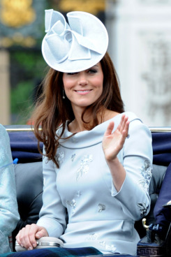 Catherine, Duchess of Cambridge ride in a carriage for the Trooping the Colour ceremony on June 16, 2012 in London, England.