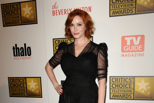 Actress Christina Hendricks attends the Critics' Choice Television Awards at The Beverly Hilton Hotel on June 18, 2012 in Beverly Hills, California.