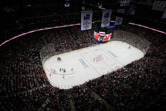 NEWARK, NJ - MAY 30:  The Los Angeles Kings play the New Jersey Devils during Game One of the 2012 NHL Stanley Cup Final at the Prudential Center on May 30, 2012 in Newark, New Jersey.  (Photo by Bruce Bennett/Getty Images)