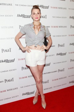 "Model Elettra Wiedemann attends The Cinema Society with the Hollywood Reporter & Piaget and Disaronno screening of ""To Rome With Love"" at The Paris Theatre on June 20, 2012 in New York City."