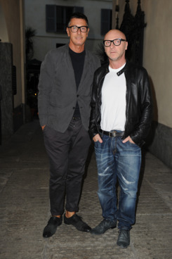 Stefano Gabbana and Domenico Dolce attends Dolce & Gabbana Milano Thunder Cocktail on May 3, 2012 in Milan, Italy.