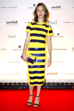 Sofia Coppola attends the amfAR Inspiration Night Paris at Maxim's on June 28, 2012 in Paris, France.