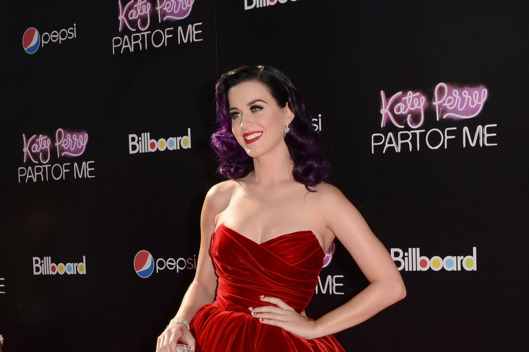 Singer Katy Perry arrives at the premiere of Paramount Insurge's 'Katy Perry: Part Of Me' held at Grauman's Chinese Theatre on June 26, 2012 in Hollywood, California.