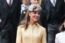 Catherine, Duchess of Cambridge leaves St Giles Cathederal after the Thistle Ceremony on July 5, 2012 in Edinburgh, Scotland. Prince William, Duke of Cambridge will today be installed into the historic Order of the Thistle in a ceremony in Edinburgh attended by the Queen and the Duke of Edinburgh.