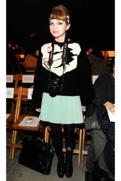 Fashion blogger Tavi Gevinson attends the Boy And Girl By Band Of Outsider Fall 2012 fashion show during Mercedes-Benz Fashion Week at SIR Stage37 on February 11, 2012 in New York City.