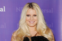 Jessica Simpson arrives at the NBC Universal All-Star Party at The Athenaeum on January 6, 2012 in Pasadena, California.
