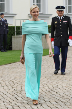 Princess Charlene of Monaco arrives at Schloss Bellevue Palace on July 9, 2012 in Berlin, Germany. Prince Albert II and Princess Charlene are visiting Berlin and tomorrow will continue to Stuttgart..