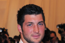 "NEW YORK, NY - MAY 07:  NFL player of NFL player of the New York Jets Tim Tebow attends the ""Schiaparelli And Prada: Impossible Conversations"" Costume Institute Gala at the Metropolitan Museum of Art on May 7, 2012 in New York City.the New York Jets Tim Tebow attends the ""Schiaparelli And Prada: Impossible Conversations"" Costume Institute Gala at the Metropolitan Museum of Art on May 7, 2012 in New York City.  (Photo by Larry Busacca/Getty Images)"