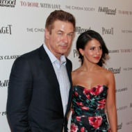 "NEW YORK, NY - JUNE 20:  Actor Alec Baldwin and Hilaria Thomas attend The Cinema Society with the Hollywood Reporter & Piaget and Disaronno screening of ""To Rome With Love"" at The Paris Theatre on June 20, 2012 in New York City.  (Photo by Charles Eshelman/FilmMagic)"