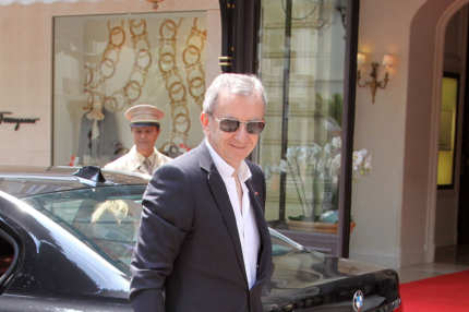 Bernard Arnault arrives at the 'Hermitage' hotel to attend the ceremony of the Royal Wedding of Prince Albert II of Monaco to Charlene Wittstock in the main courtyard at  on July 2, 2011 in Monaco, Monaco.