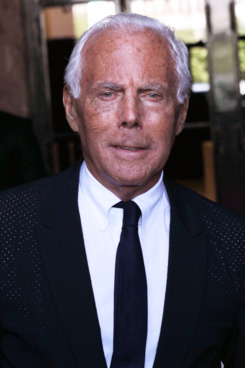 Giorgio Armani attends the Giorgio Armani Prive Haute Couture Fall/Winter 2011/2012 show as part of Paris Fashion Week at Palais de Chaillot on July 5, 2011 in Paris, France.