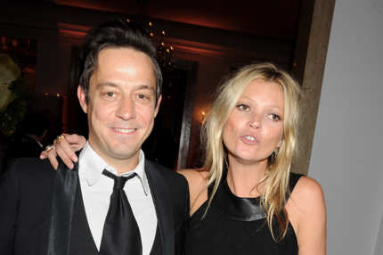 Jamie Hince (L) and Kate Moss attend the Marie Curie Cancer Fundraiser hosted by Heather Kerzner at Claridge's Hotel on May 15, 2012 in London, England.