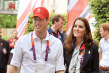Prince William, Duke of Cambridge and Catherine, Duchess of Cambridge during a visit to the Team GB accommodation flats in the Athletes Village at the Olympic Park in Stratford on Day 4 of the London 2012 Olympic Games on July 31, 2012 in London, England.