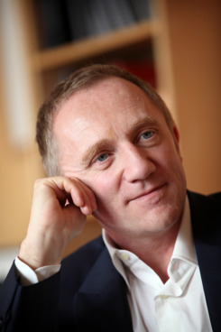 Francois-Henri Pinault, chief executive officer of PPR SA, pauses during an interview at the company's headquarters in Paris, France, on Wednesday, April 6, 2011.