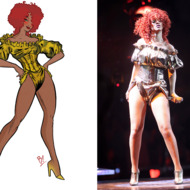 Rihanna's Stylist Explains Her New Tour Costumes