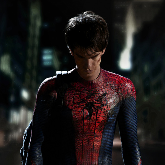 Columbia Pictures releases the first image of Andrew Garfield as Spider-Man.