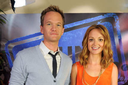 LOS ANGELES, CA - JULY 12:  (EXCLUSIVE COVERAGE) Actor Neil Patrick Harris (L) and actress Jayma Mays visit YoungHollywood.com at Young Hollywood Studio on July 12, 2011 in Los Angeles, California.  (Photo by Michael Kovac/WireImage)