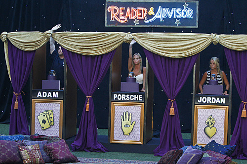 "The Big Brother Houseguests compete in the ""BB Fortune Teller"" Head of Household competition which aired during the broadcast on Wednesday, September 7. Photo: Cliff Lipson/CBS ?2011 CBS Broadcasting, Inc. All Rights Reserved."