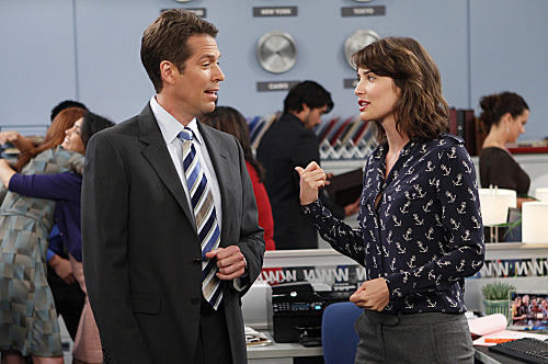 """The Stinson Missile Crisis""-- Robin (Cobie Smulders) begins court mandated therapy sessions after assaulting a girl, on HOW I MET YOUR MOTHER, Monday, Oct. 3 (8:00-8:300 PM, ET/PT) on the CBS Television Network. Alexis Denisof guest stars as Sandy Rivers, Robin?s boss.  Photo: CLIFF LIPSON/CBS ©2011 CBS BROADCASTING INC. All Rights Reserved."