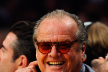LOS ANGELES, CA - APRIL 03:  Jack Nicholson attends the Denver Nuggets and Los Angeles Lakers basketball game at Staples Center on April 3, 2011 in Los Angeles, California.  NOTE TO USER: User expressly acknowledges and agrees that, by downloading and/or using this Photograph, user is consenting to the terms and conditions of the Getty Images License Agreement.   (Photo by Kevork Djansezian/Getty Images) *** Local Caption *** Jack Nicholson