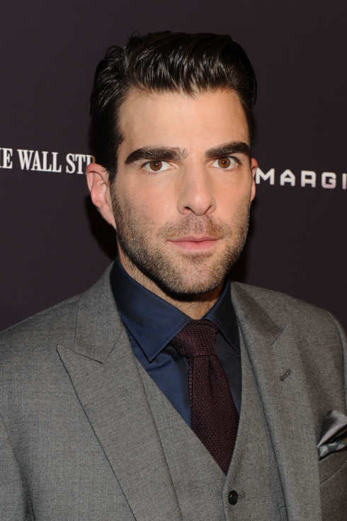 "NEW YORK, NY - OCTOBER 17:  Zachary Quinto attends the ""Margin Call"" premiere at the Landmark Sunshine Cinema on October 17, 2011 in New York City.  (Photo by Jason Kempin/Getty Images)"