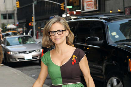 Amy Sedaris visits the Late Show with David Letterman at the Ed Sullivan Theater in NYC. <P> Pictured: Amy Sedaris <P> <B>Ref: SPL218077  111010  </B><BR/> Picture by: Demis Maryannakis / Splash News<BR/> </P><P> <B>Splash News and Pictures</B><BR/> Los Angeles:310-821-2666<BR/> New York:212-619-2666<BR/> London:870-934-2666<BR/> photodesk@splashnews.com<BR/> </P>