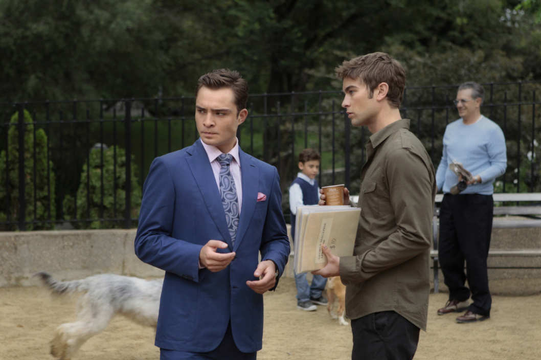 """The Fasting And The Furious"" GOSSIP GIRL Pictured (L-R) Ed Westwick as Chuck Bass and Chace Crawford as Nate Archibald PHOTO CREDIT: GIOVANNI RUFINO/©2011 THE CW NETWORK. ALL RIGHTS RESERVED"