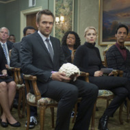 """COMMUNITY -- """"Advanced Gay"""" Episode 306 -- Pictured: (l-r) Alison Brie as Annie, Joel McHale as Jeff, Yvette Nicole Brown as Shirley, Gillian Jacobs as Britta, Danny Pudi as Abed -- Photo by: Lewis Jacobs/NBC"""