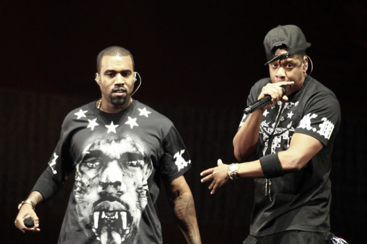 Kanye West, Left, And Jay Z Perform In Concert During The