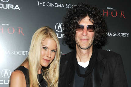 "NEW YORK, NY - APRIL 28:  Beth Ostrosky Stern and Howard Stern attend the Cinema Society & Acura screening Of ""Thor"" at AMC Loews 19th Street East 6 theater on April 28, 2011 in New York City.  (Photo by Theo Wargo/Getty Images) *** Local Caption *** Beth Ostrosky Stern;Howard Stern;"