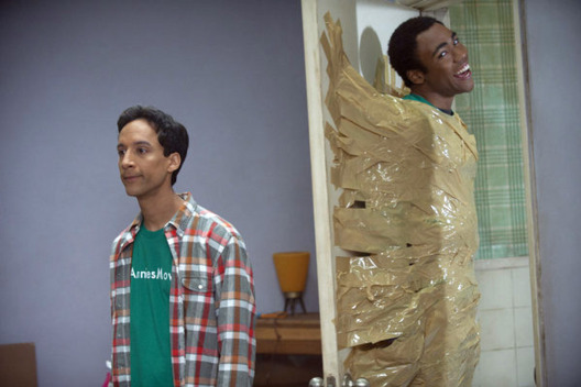 "COMMUNITY-- ""Studies in Modern Movement"" Episode 307 -- Pictured: (l-r) Danny Pudi as Abed, Donald Glover as Troy -- Photo by: Lewis Jacobs/NBC"