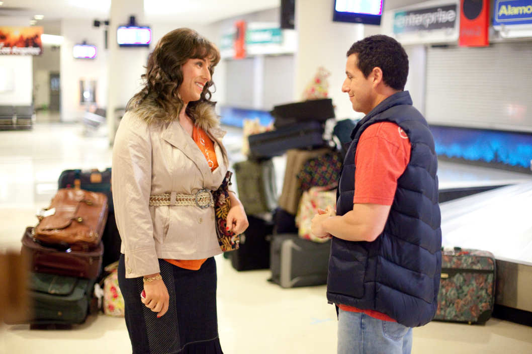 Jill and Jack (both, Adam Sandler) in Columbia Pictures' JACK AND JILL.