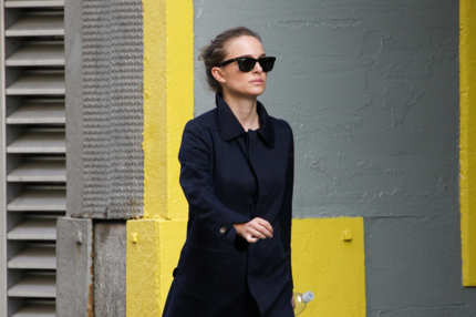 Natalie Portman seen wearing her jacket whilst taking a walk in New York city, USA. <P> Pictured: Natalie Portman <P> <B>Ref: SPL307017  290811  </B><BR/> Picture by: PPNY / GSNY /  Splash News<BR/> </P><P> <B>Splash News and Pictures</B><BR/> Los Angeles:	310-821-2666<BR/> New York:	212-619-2666<BR/> London:	870-934-2666<BR/> photodesk@splashnews.com<BR/> </P>