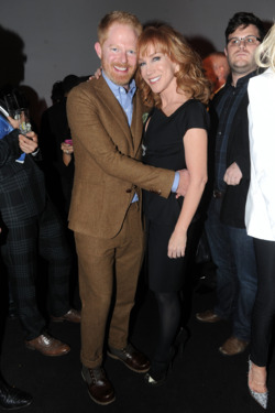 NEW YORK, NY - NOVEMBER 17:  Jesse Tyler Ferguson (L) and Kathy Griffin attend the OUT celebration of The OUT100 at Skylight Soho on November 17, 2011 in New York City.  (Photo by Jamie McCarthy/Getty Images for OUT)