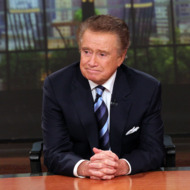 """NEW YORK, NY - NOVEMBER 17:  Regis Philbin attends a press conference on his departure from """"LIVE! with Regis and Kelly"""" at ABC Studios on November 17, 2011 in New York City.  (Photo by Rob Kim/Getty Images)"""