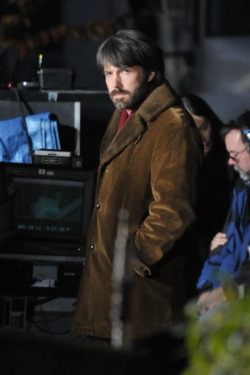 Ben Affleck on set directing 'Argo' in McLean, Virginia, on an evening shoot in a residential neighborhood. <P> Pictured: Ben Affleck <P> <B>Ref: SPL336777  191111  </B><BR/> Picture by: Brandon Todd  / Splash News<BR/> </P><P> <B>Splash News and Pictures</B><BR/> Los Angeles:	310-821-2666<BR/> New York:	212-619-2666<BR/> London:	870-934-2666<BR/> photodesk@splashnews.com<BR/> </P>