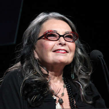 BEVERLY HILLS, CA - JULY 27:  Comedian Roseanne Barr speaks during the History and Lifetime portion of the 2011 Summer TCA Tour at the Beverly Hilton on July 27, 2011 in Beverly Hills, California.  (Photo by Frederick M. Brown/Getty Images)