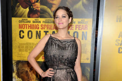 "NEW YORK, NY - SEPTEMBER 07:  Marion Cotillard attends the ""Contagion"" premiere at the Rose Theater, Jazz at Lincoln Center on September 7, 2011 in New York City.  (Photo by Michael Loccisano/Getty Images)"