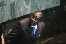 NEW YORK, NY - SEPTEMBER 22:  Robert Mugabe, President of Zimbabwe, looks on after delivering an address to the United Nations General Assembly at U.N. headquarters on September 22, 2011 in New York City. This is the 64th session of the United Nations General Assembly with heads of state from over 120 countries attending.  (Photo by Mario Tama/Getty Images)