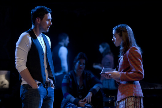 "Steve Kazee and Cristin Milioti in ""Once"" at the New York Theatre Workshop."