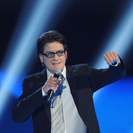 "LOS ANGELES, CA - DECEMBER 10:  Actor Charlie Sheen speaks onstage at Spike TV's ""2011 Video Game Awards"" at Sony Studios on December 10, 2011 in Los Angeles, California.  (Photo by Mark Davis/Getty Images)"