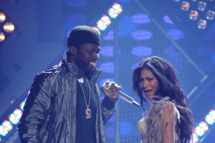 AMERICAN IDOL: L-R: 50 Cent and Nicole Scherzinger perform on AMERICAN IDOL Thursday, May 19 (8:00-9:00 PM ET/PT) on FOX. CR: Michael Becker / FOX.