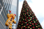 NANJING, CHINA - DECEMBER 08:  (CHINA OUT) A Christmas tree is installed at Zhongyang Road on December 8, 2011 in Nanjing, China.  (Photo by ChinaFotoPress/Getty Images)