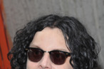 "NEW YORK, NY - JUNE 24:  Musician Jack White signs autographs for fans to promote the new record ""Stephen Colbert with the Black Belles"" at the Third Man Records Rolling Record Store at The Lot at The High Line on June 24, 2011 in New York City.  (Photo by Mike Coppola/Getty Images)"